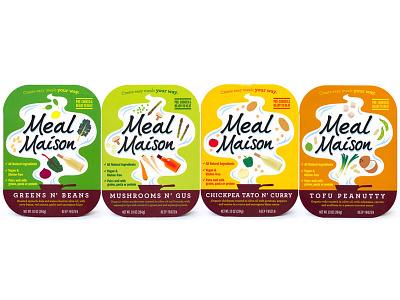 Meal Maison food packaging design graphic design brand design cpg illustration logo design packaging design