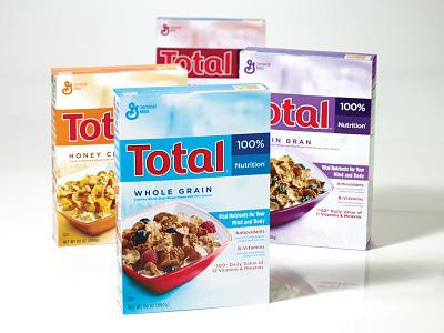 Total Cereal Redesign food packaging design graphic design brand design cpg logo design packaging design