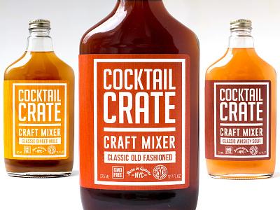 Cocktail Crate label design graphic design brand design cpg food packaging design packaging design