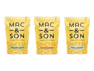 Mac & Son food packaging design graphic design brand design cpg logo design packaging design