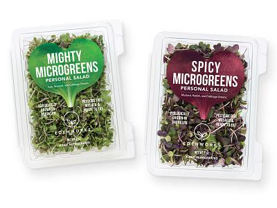 Edenworks Microgreens food packaging design graphic design brand design cpg logo design packaging design