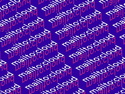 Mailto:cloud Conference 2019 ☁️ cloud typography kinetic animation motion