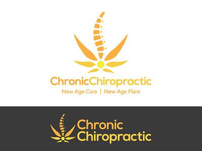 Chronic Chiropractic health chiropractor chiropractic medicinal marijuana 420 cannabis vector icon logo