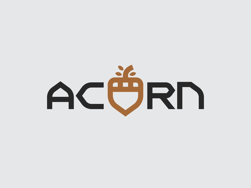 ACRN Security Alt. acorn shield security outdoors logotype branding retro typography nature thick lines minimal brand icon logo