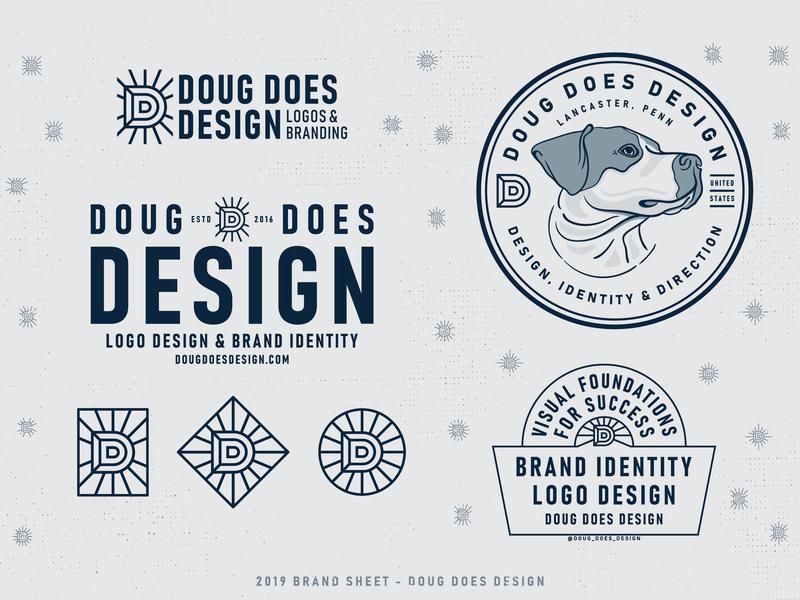 2019 BRAND SHEET sticker mule sticker set illustration identity pennsylvania lancaster d dog icon dog retro brand icon badge logo