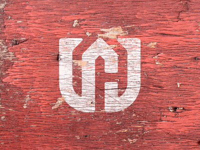W + H + House Monogram wood background wood renovation carpentry carpenter monogram wh w thick lines minimal brand icon badge logo