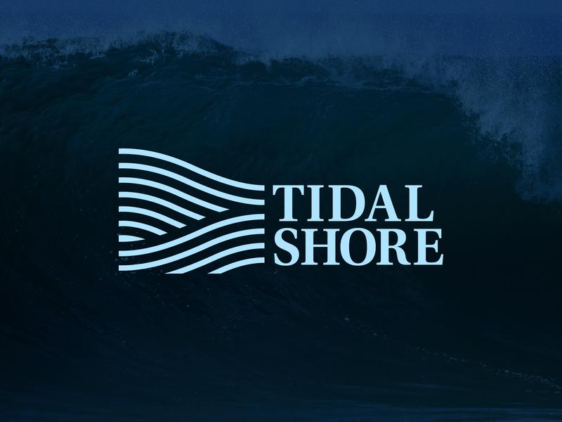 Tidal Shore Logo water tide ocean waves minimal branding nature thick lines icon logo