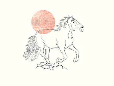 Horse Process Illustration