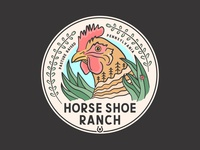 Horse Shoe Ranch Colored Sticker