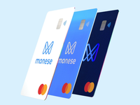 New Monese vertical cards
