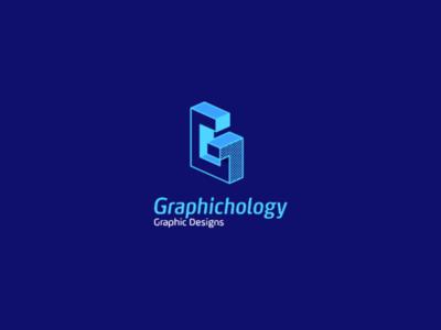 Graphichology logo isometric minimalism mark logodesigner rectangle symbol graphicdesign graphic minimalist illustrator logos icon design logo