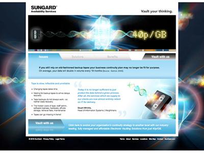 Sungard Services Website sungard services vault design uk