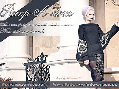Flyer for Pomp-A-dour flyer pomp-a-dour fashion clothing victoria
