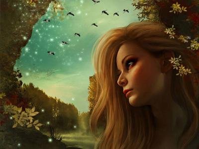 Lost In Beauty fantasy art digital painting rebecca