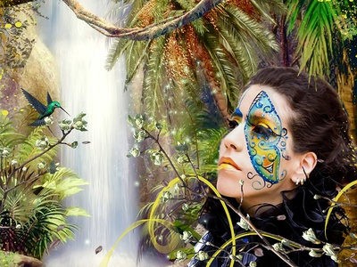 Lost In Paradide lost in paradide silvia fantasy art digital painting