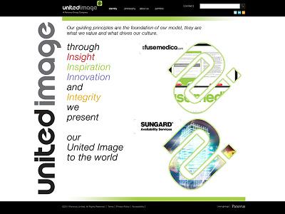 United Image Website ui design web digital 2014