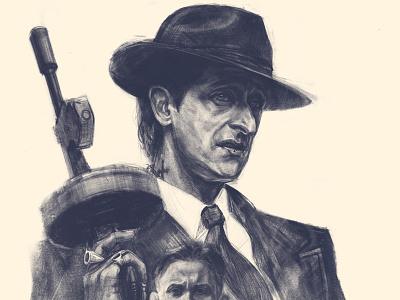 Peaky Blinders poster illustration adrian brody film poster poster digital drawing portrait apple pencil ipad pro