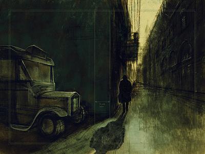 Book cover draft crime novel book illustration digital painting sketch illustration noir cover