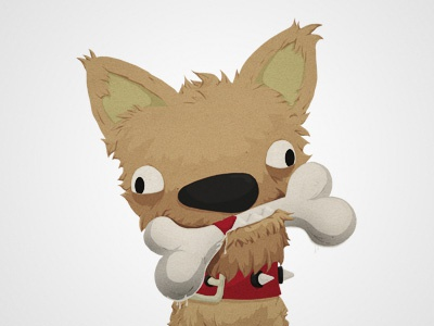 The Dog dog game ios iphone ipad funny cartoon illustration