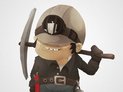 The Miner character cartoon illustration game ios ipad iphone miner funny