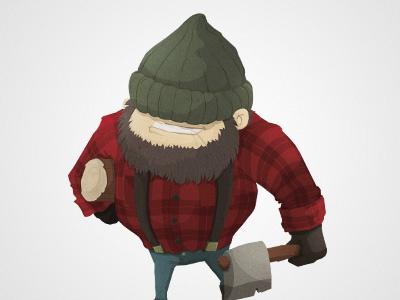 The Lumberjack cartoon funny game illustration ios ipad iphone character lumberjack