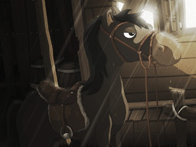 Horse bridgy character iphone ipad ios illustration game funny cartoon horse