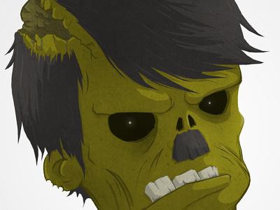 Zombie illutration character cartoon zombie greg gut