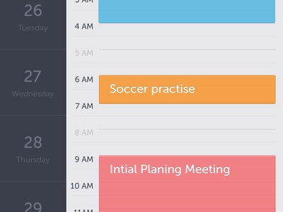 Stupid iCalendar calendar iphone app simple clean events reminder ui ux user interface design