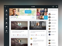 Close App Web Sketch to Design timeline profile ui ux simple clean chat icons map