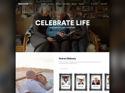 Funeral Web Theme Template