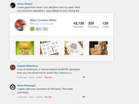 Dribbble - User profile overview
