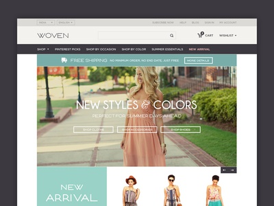 Upcoming Ecommerce Store ecommerce web design wesite ui ux interface flat simple clean
