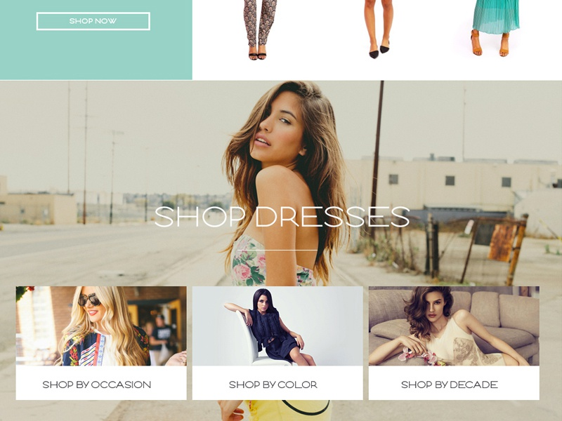 Shop by Category ecommerce categories clothing eshop ui ux simple clean interface design