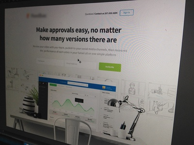 We are Cooking splash page redesign coming soon website design