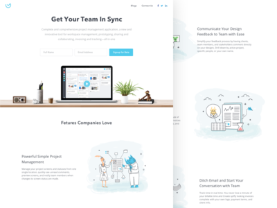 Managly Web feedback do to task management project illustrations icons flat homepage webdesign website