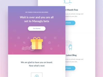 Beta Invitation Email interface icons icon launch beta invitation newsletter template email