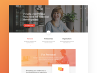 Financial Social Network Landing Page