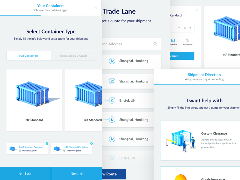 Freight Shipping Quote | Zencargo Quote Form Responsive By Paresh Khatri Dribbble Dribbble