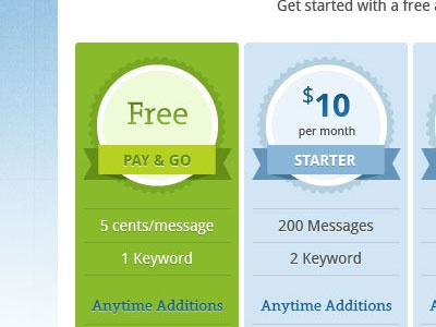 Pricing pricing table price simple clean packages