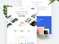Landing page for WP theme