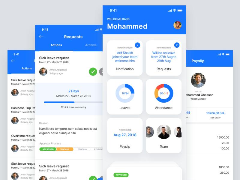 HR and Payroll App by Paresh Khatri on Dribbble