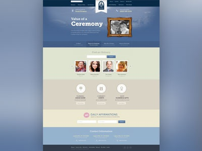 Funeral Home funeral one simple clean homepage colorful old non profit