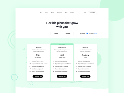Flexible Plans plans frontend webdesign website pricing page table pricing