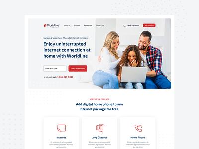 Internet Company Website Design internet calling about us homepage landing page webdesign website