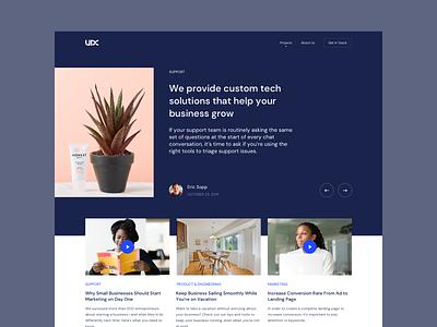 UDX Blog figma website webdesign web blog design blog post blog