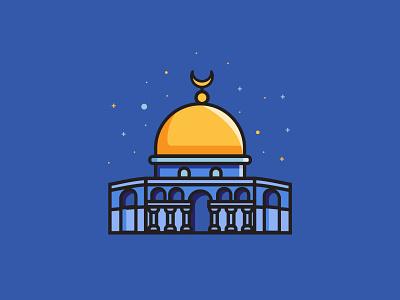 Al Aqsha fun palestine vector ui ux arts art creative icon graphic design design
