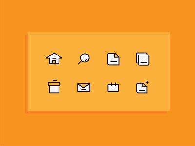Mail Icon ui illustration corona art ui ux creative icon vector graphic design flat design design