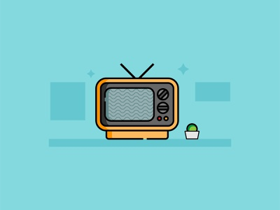 Television Icon ui ux art ui illustration corona arts creative vector graphic design flat design design