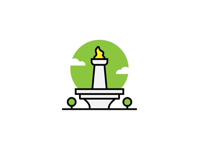 Jakarta City indonesia jakarta fun illustration arts ui ux icon creative vector graphic design flat design design