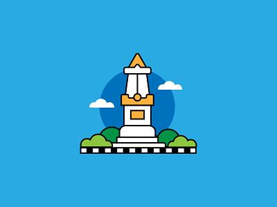 Jogja City indonesia designer culture java indonesia jogja fun ui illustration ui ux icon creative vector graphic design flat design design